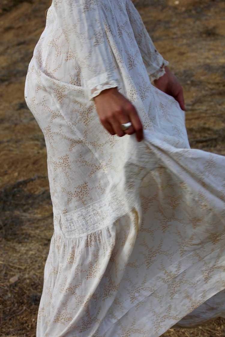 Antique Victorian Calico Lawn Dress - image 5