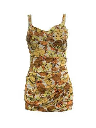 Roxanne 50s Swimsuit in Autumnal Floral Tones