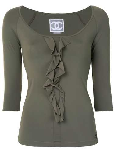 Chanel Pre-Owned 2007 ruffled detail three-quarter