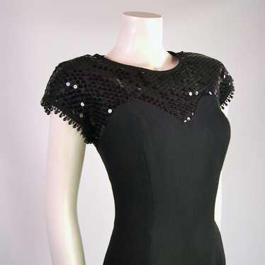 Vintage Radley Sequinned Black Evening Dress 1980s