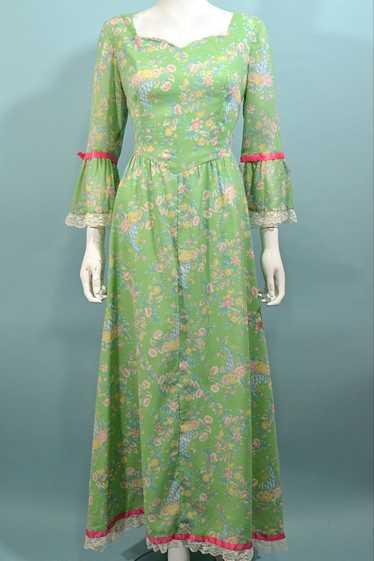 Vintage Cottagecore Prairie Fairycore Maxi Dress,