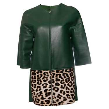 Céline Green leather jacket