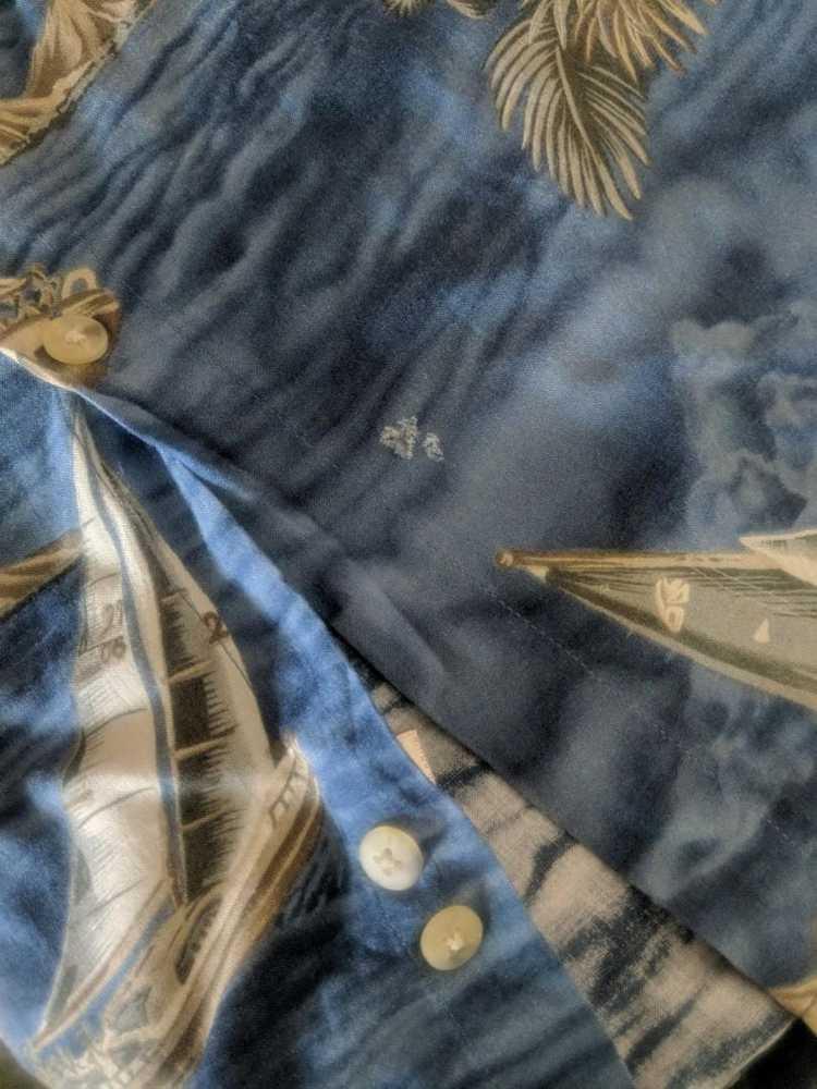 Vintage Vintage Campia hawaiian blue Shirt Hawaii… - image 9
