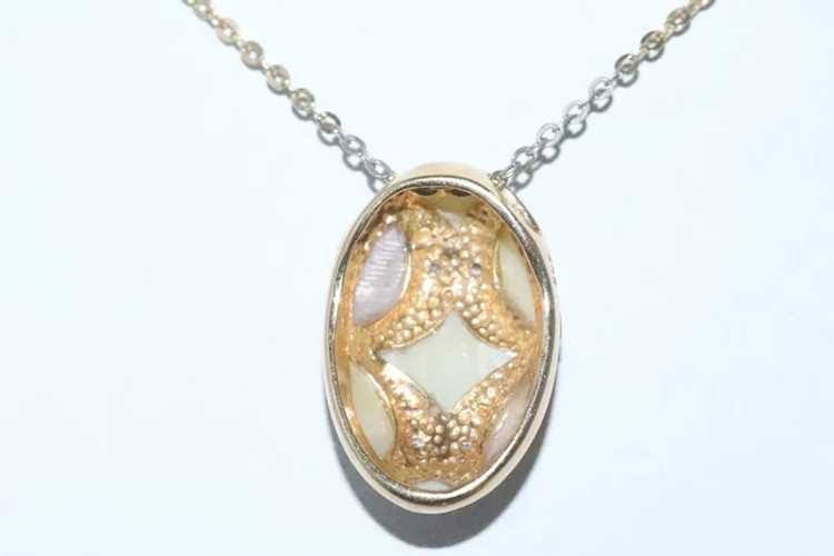 14K Yellow Gold Pink Yellow Diamond Mother Of Pea… - image 3