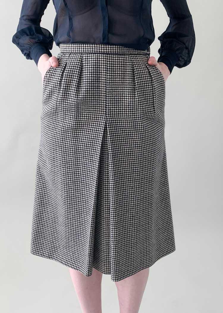 Vintage 1970s Yves Saint Laurent Houndstooth Skirt - image 2