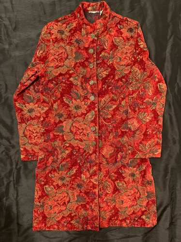 Chicos Vintage Asian Inspired Longcoat
