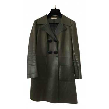 Celine Green Leather Leather jacket for Women 38 … - image 1