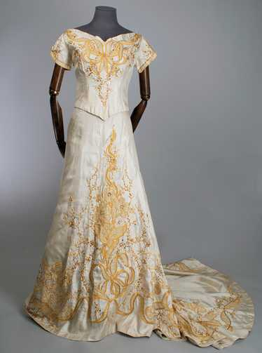 Edwardian evening dress style theatre costume