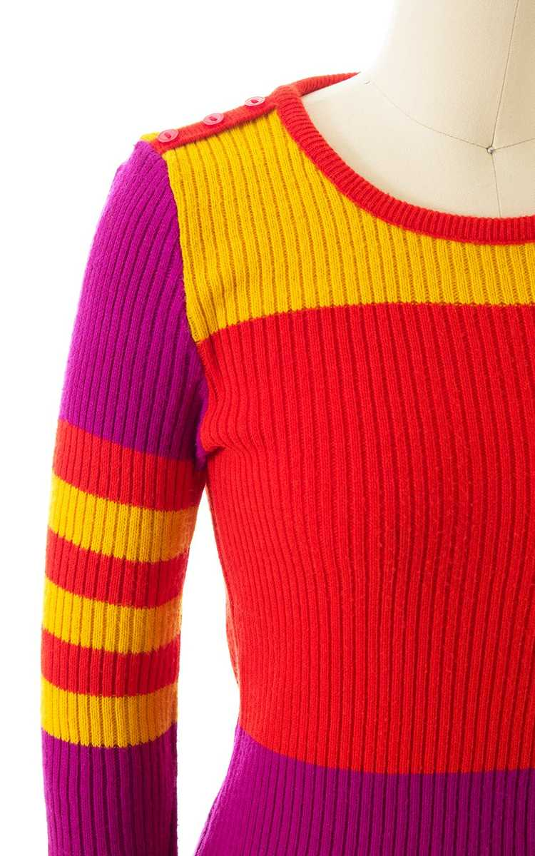 NEW ARRIVAL || 1970s Color Block Knit Sweater | x… - image 2