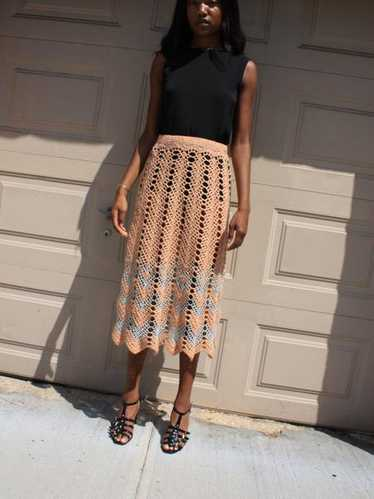 Metallic Crochet Skirt