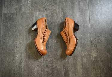 Edwardian shoes . antique leather shoes