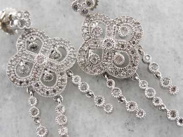Diamond Chandelier Earrings, Bridal Earrings