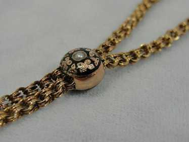 Victorian Lariat Slide Rose Gold Chain Necklace