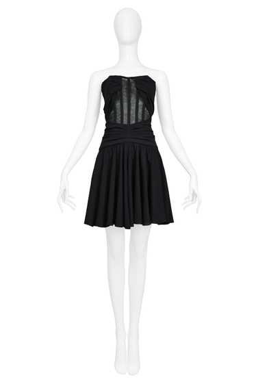 DOLCE BLACK MESH CORSET DRESS