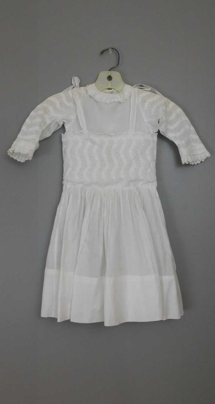Antique Edwardian Little Girl Dress, Embroidered … - image 1
