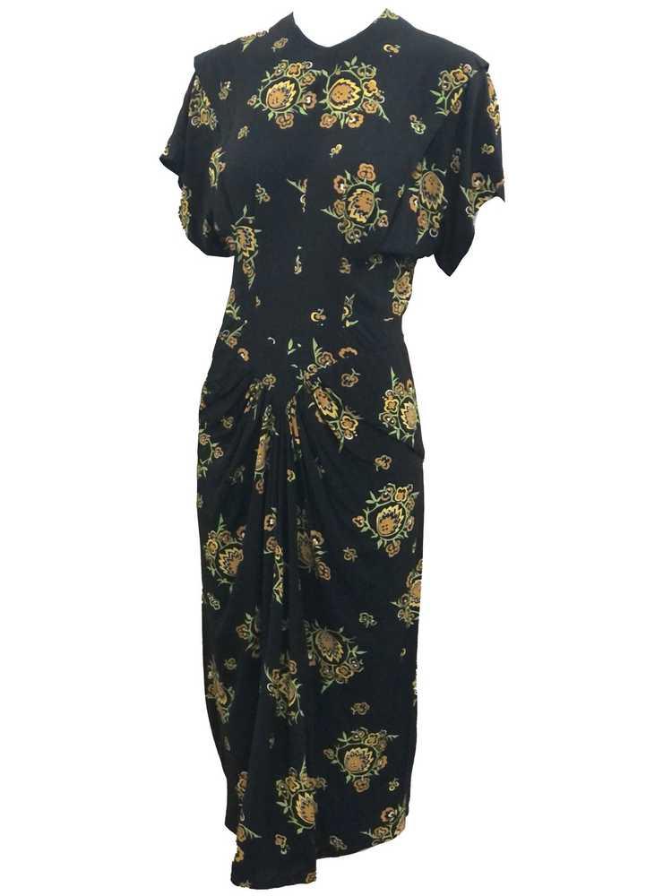 Dorothy O'Hara 40s Rayon Print Dress - image 2