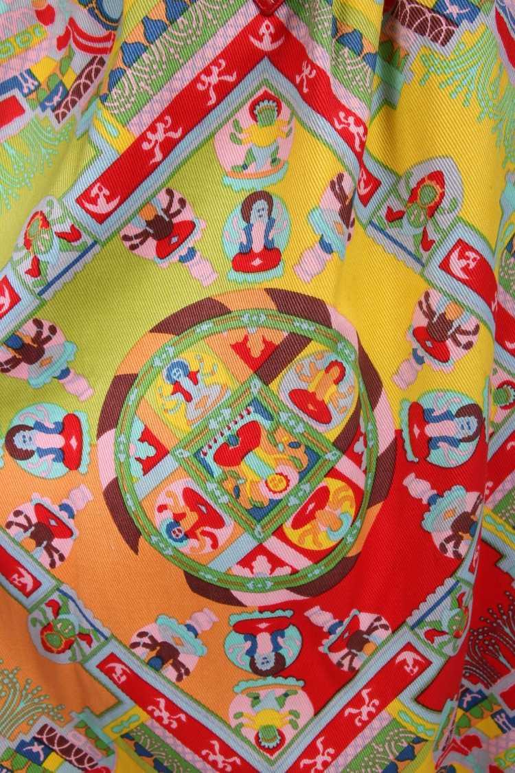 1970's Lanvin 'Buddha' Theme Maxi Skirt - image 4