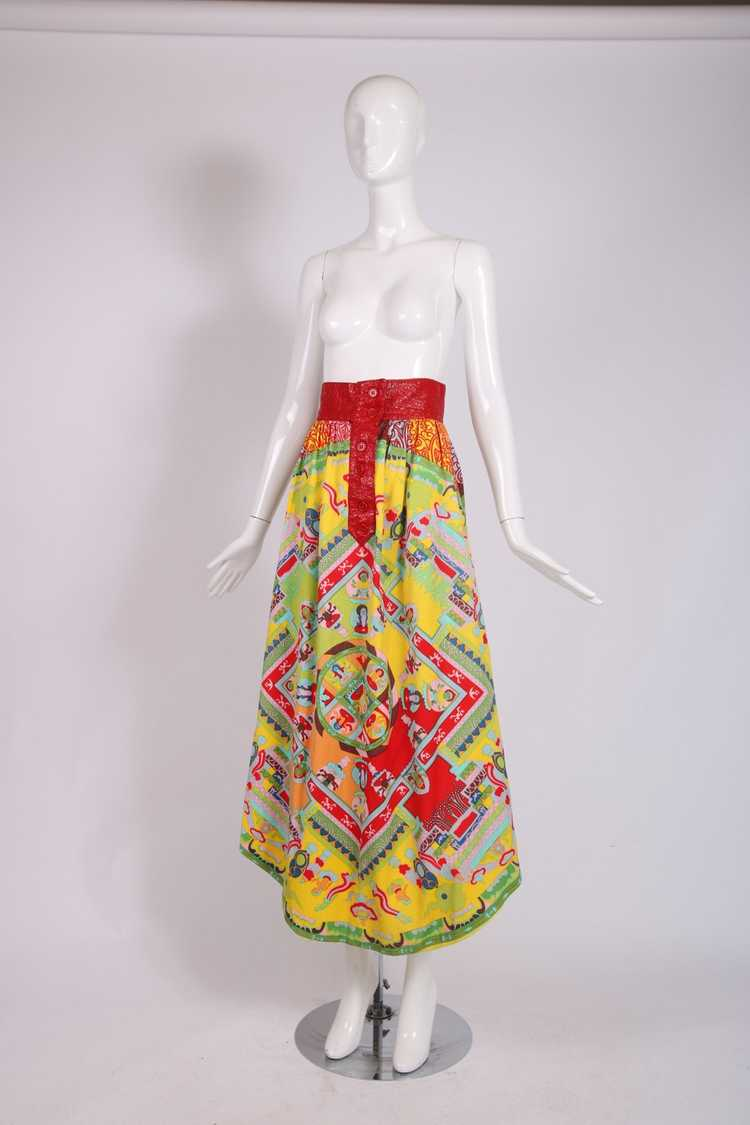 1970's Lanvin 'Buddha' Theme Maxi Skirt - image 2