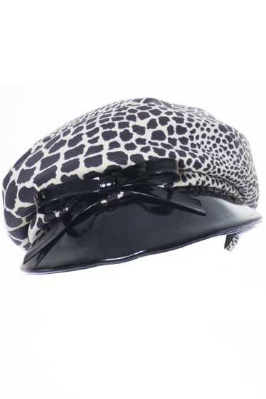 1960s Hat May Co. Leopard Print Vintage Newsboy