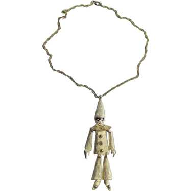 Adorable Polcini Clown Necklace/Brooch