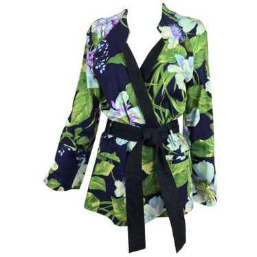 Kenzo Jungle tropical cotton print wrap jacket, 19