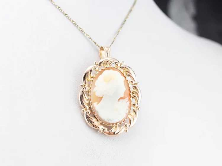 Mid Century Cameo Pendant or Pin - image 8