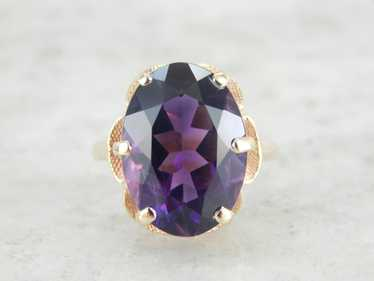 Bold Deep Purple, Framed Amethyst Cocktail Ring