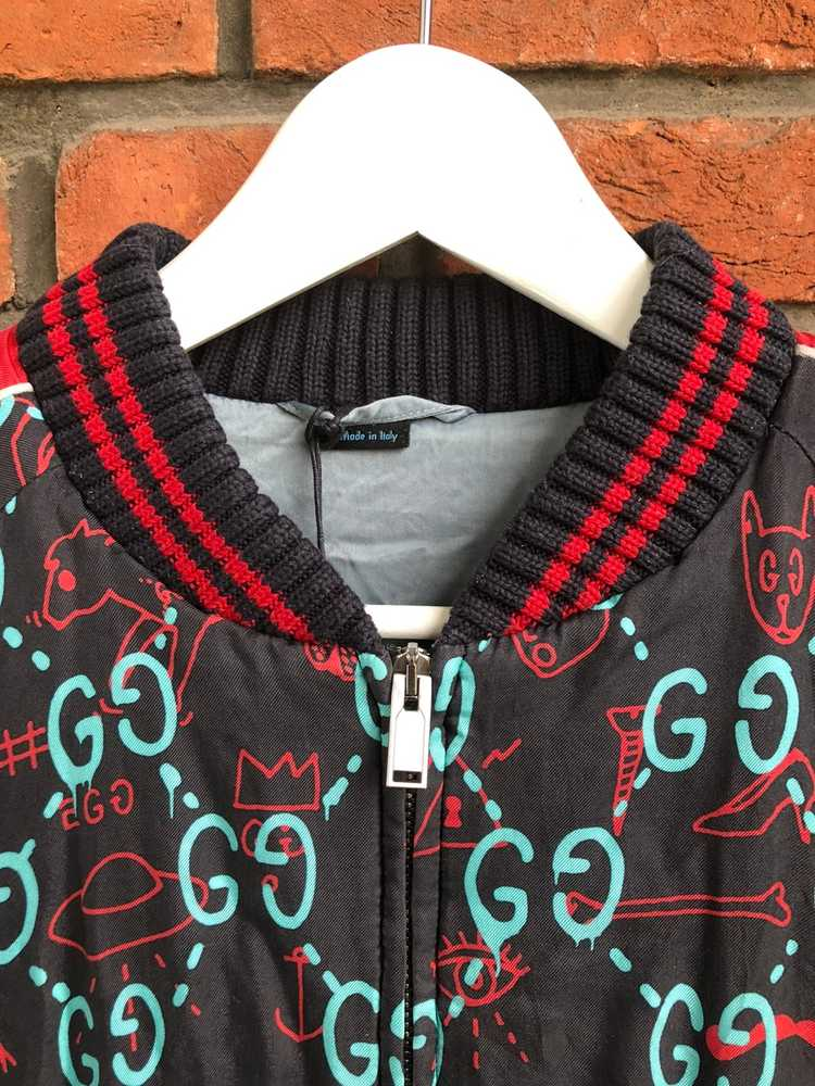 Gucci Gucci Ghost Silk Bomber - image 5