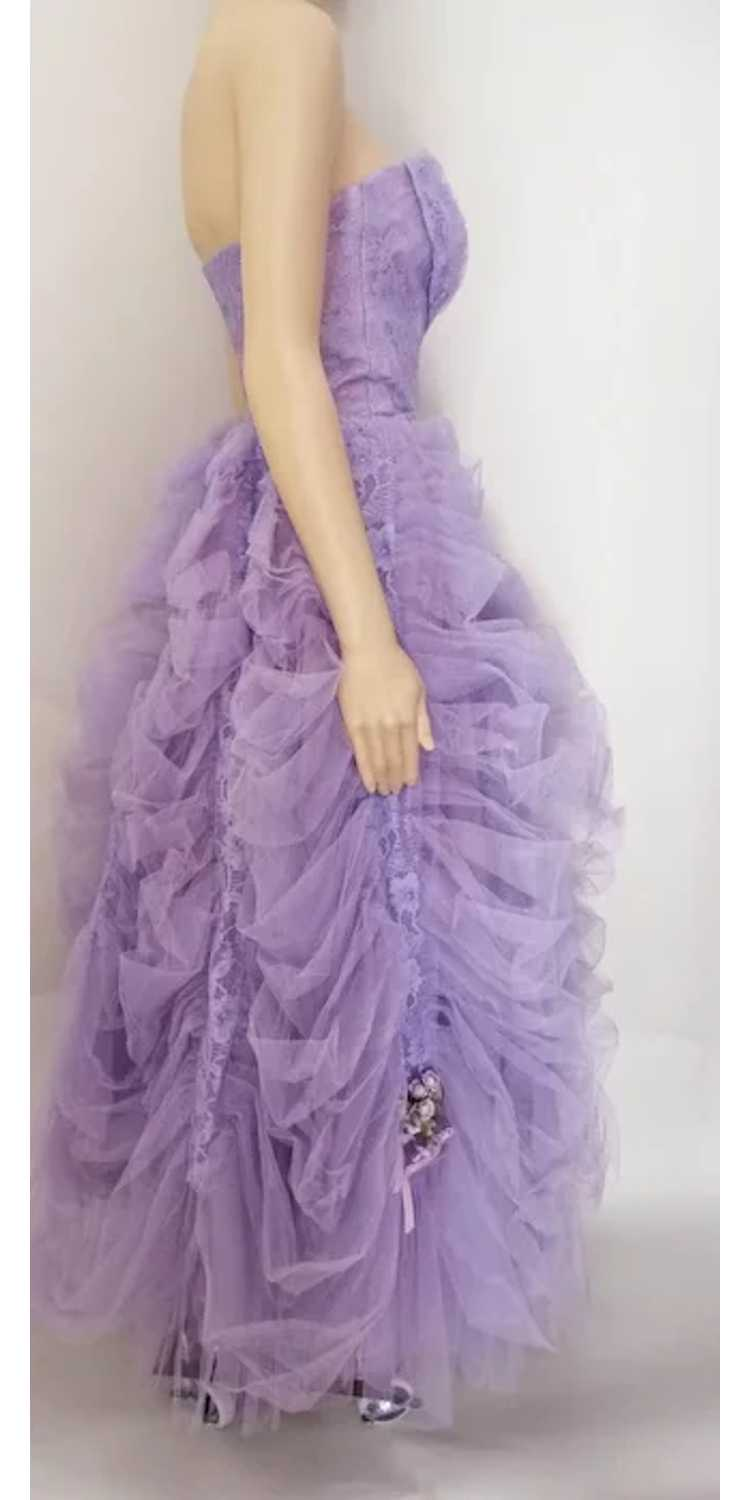 Vintage 1940s Gown // Lavender Gown// Strapless G… - image 5