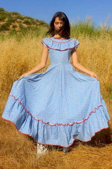 1930s Cotton Calico Lawn Dress