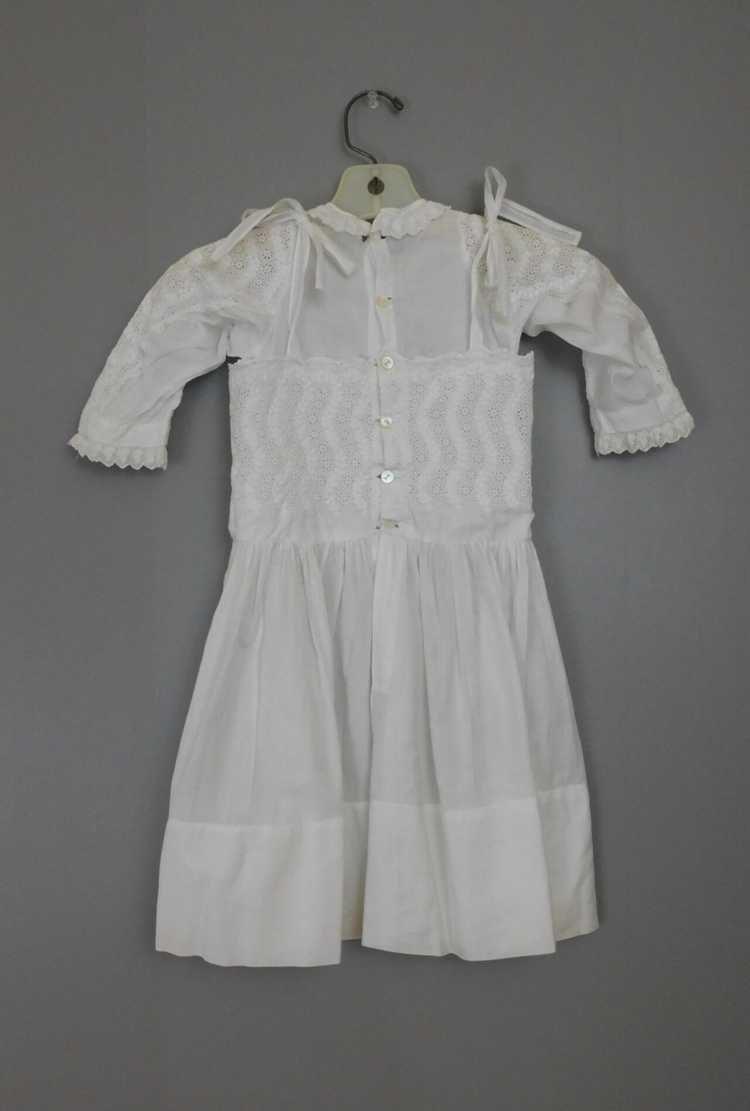 Antique Edwardian Little Girl Dress, Embroidered … - image 2