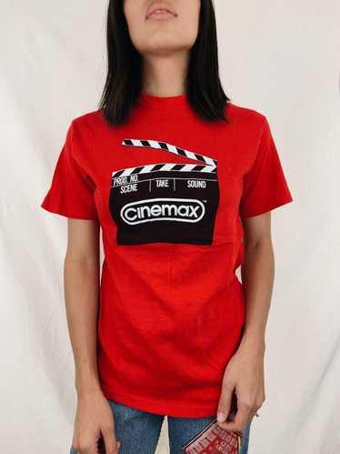Movie × Vintage Vintage 80s Cinemax Movie Promo T-