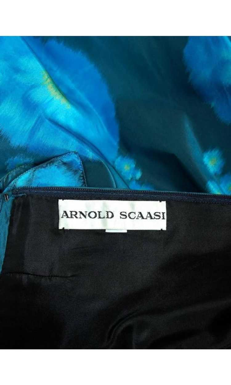 1966 Arnold Scaasi Couture Watercolor Blue Floral… - image 7