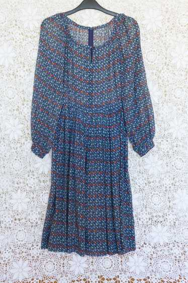 Ditsy Print Midi Dress