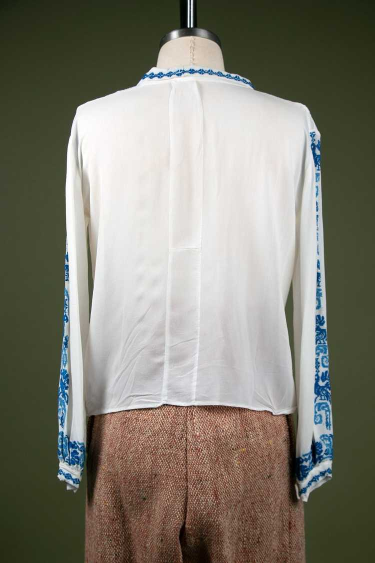 Vintage 1930's Embroidered Peasant Blouse - image 9