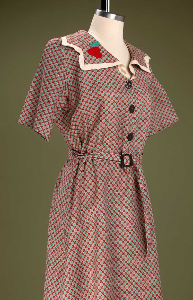 Vintage 1930's - Early 1940's Cotton Dress - image 5