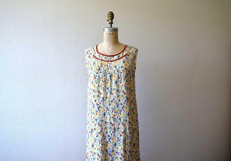 1920s rainbow print dress . vintage 20s dress - image 1