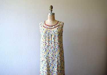 1920s rainbow print dress . vintage 20s dress