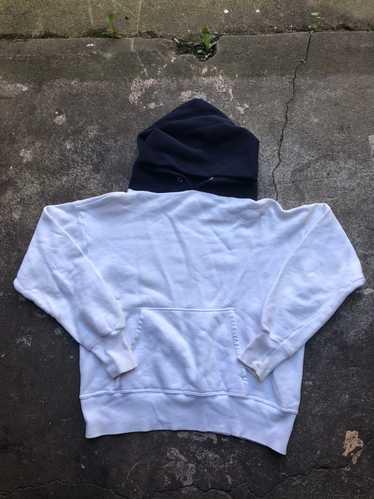 Vintage 1950's Hoodie Sweatshirt Faded Distressed