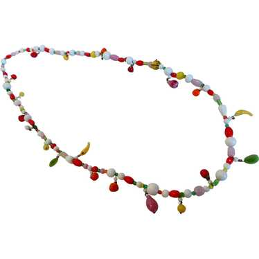 Vintage 1940s Glass Fruit Salad Necklace