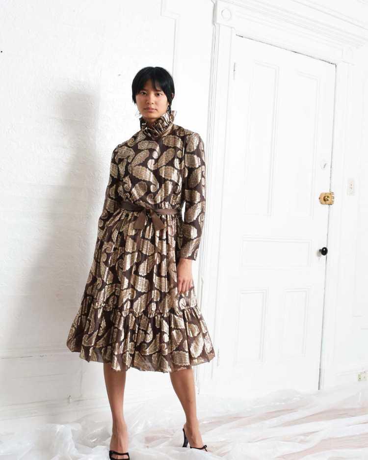 Vintage Ceil Chapman Paisley Dress - image 5