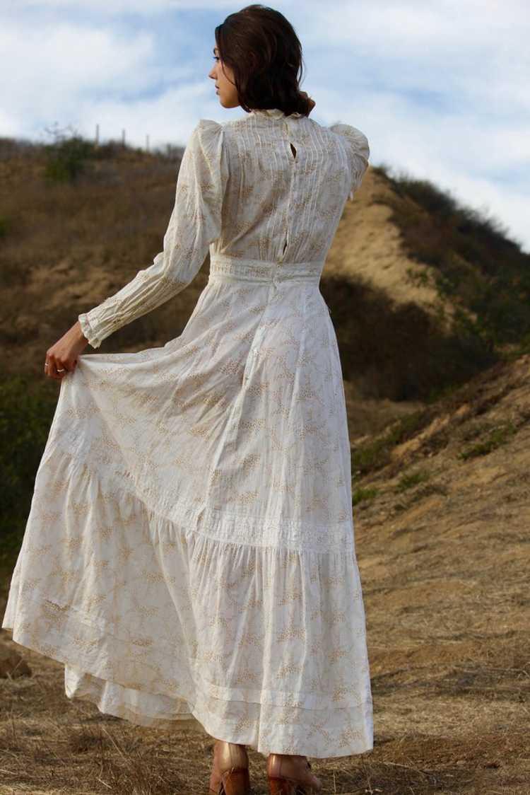 Antique Victorian Calico Lawn Dress - image 6