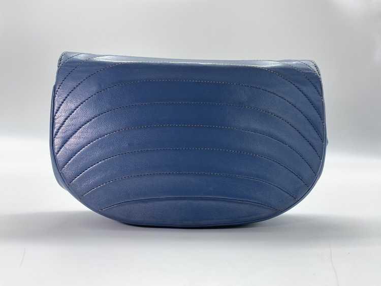 Chanel Blue Lambskin Flap Bag - image 6