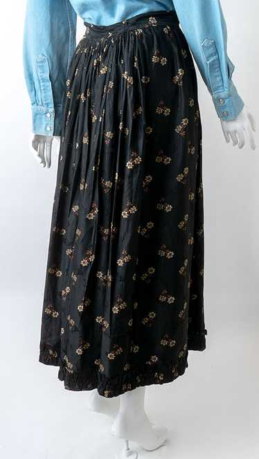 19thC Calico Prairie Skirt