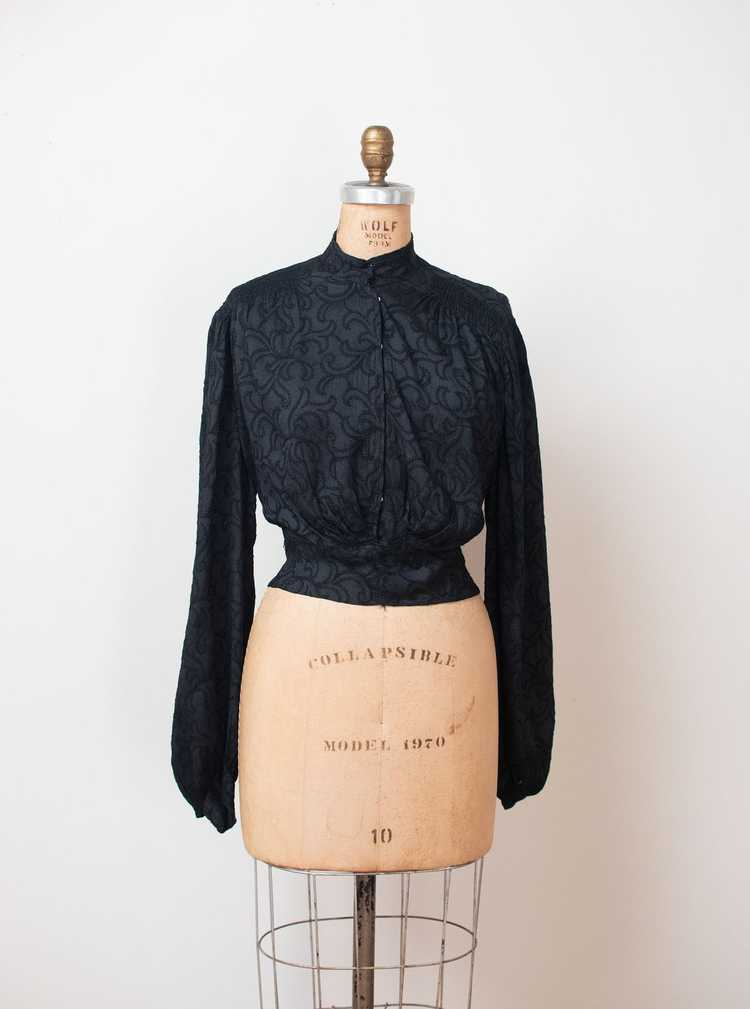 Antique Embroidered Blouse - image 7