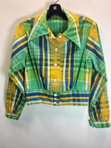 70's Summer plaid Jacket
