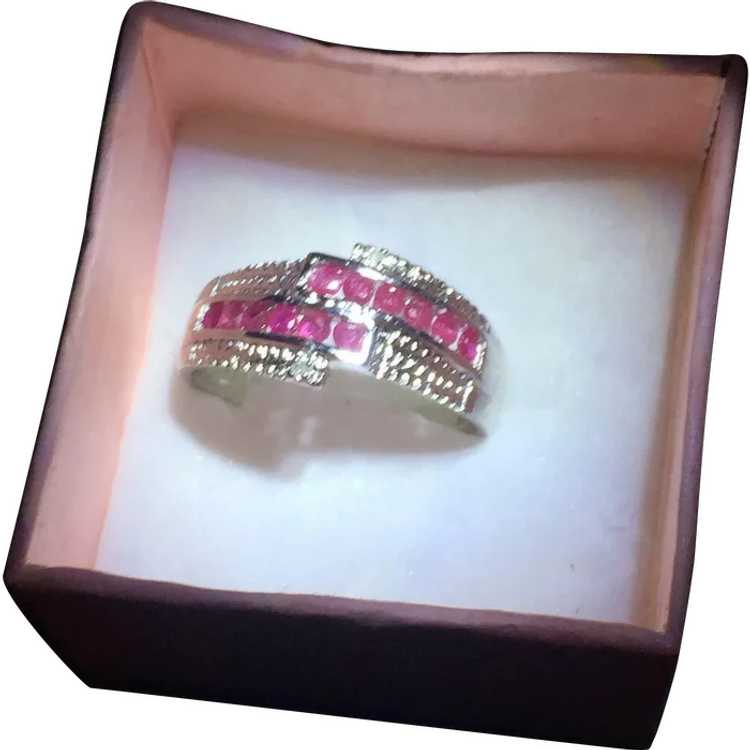 Stunning Sterling Silver and Ruby Ring - image 1