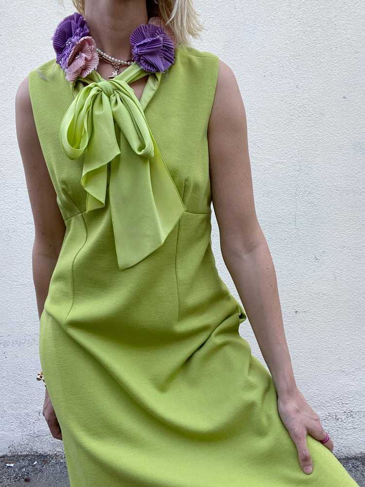Vintage Moschino Chartreuse Dress - image 1