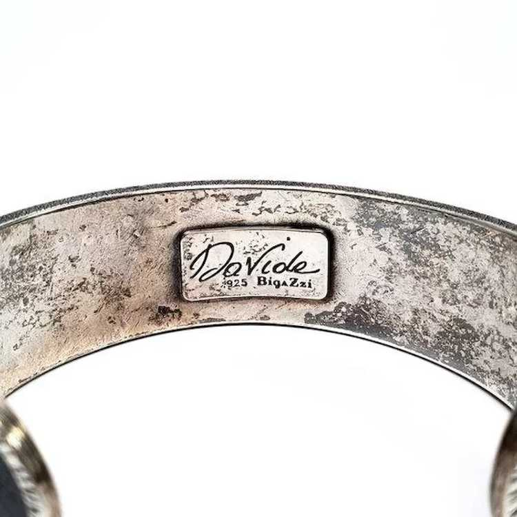 Davide Bigazzi Oxidized Sterling Silver Chased Cu… - image 3