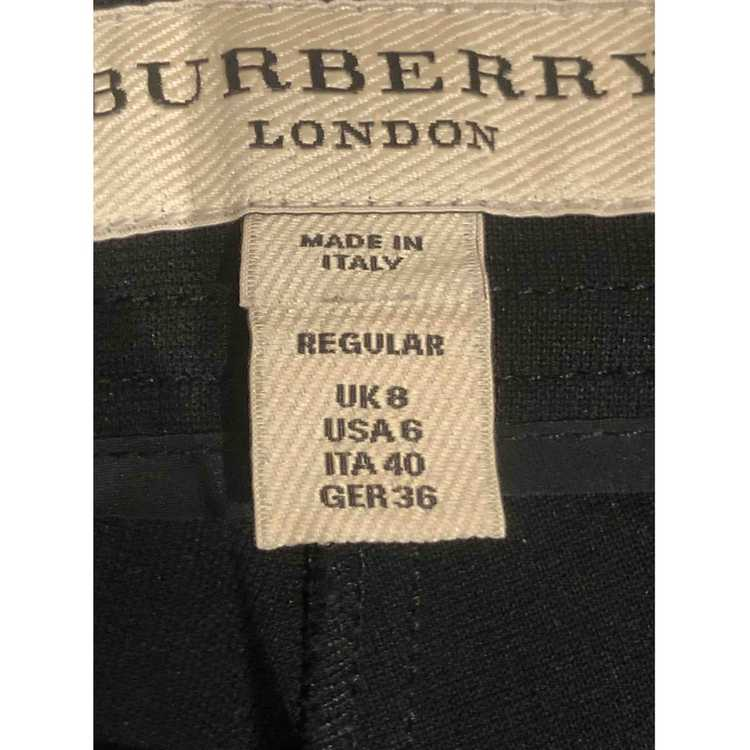 Burberry Black Trousers for Women 40 - image 4